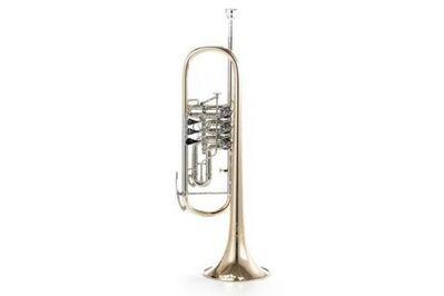Orchestertrompete B & S Konzert - Trompete, Mod. 3005 / 3 WTR aus Goldmessing - Hagenburg