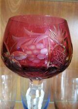 6 alte Römer Gläser Bleikristall 20cm Vitrinengläser Sammlergläser