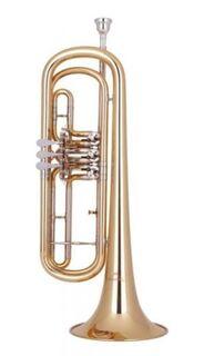 Miraphone B - Basstrompete Modell 3711000 Goldmessing. Neuware - Hagenburg