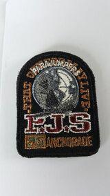 orig Schwarz Parajumpers PJS Patch Aufnäher Mantel Jacke Long Klett Logo Emblem