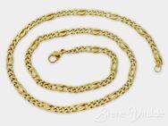 Massive 585er Gold Figarokette, gebrauchter Schmuck (997) - Leverkusen