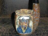 Porzellan Keramik Schnapspfeife Zierflasche Seemann Aschenbecher Alt - Bottrop