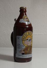 Paulchen Bräu - Bier Flasche Spaß Krug mit Deckel Vintage