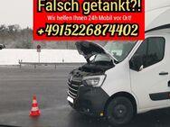 Falsch getankt? Wir helfen Ihnen 24h Mobil vor Ort! 24h-ServiceHotline +4915226874402 - Nürnberg
