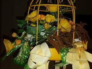 Dekoration - Vogelkäfig in gelb Metall, 20 cm hoch - Verden (Aller)
