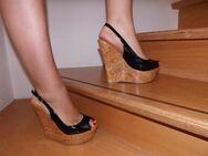 High-Heel Peep-Toe-Wedges Sling-Pumps, Größe 40, gebraucht - Mülheim-Kärlich