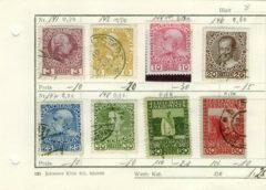 Österreich Kaierreich 8xHeller auf Sammelkarte  1908-1910 Franz-Joseph,MI:AT 141-151Lot 1234 - Reinheim
