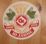 10 Jahre GetränkekombinatKarl-Marx-Stadt 1968 1978 Bierdeckel BD