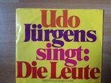 Single Vinyl Udo Jürgens  Die Leute  Schallplatte