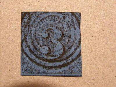 AD-Thurn u.Taxis,3 Kr.1859-61.,MI:DE 21,  Lot 580 -