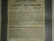 063 Auslosungsschein Leipzig 1930 50,00 Reichs Mark, selten, Rar - Lüdenscheid