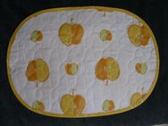 Södahl Denmark Tischset Platzset oval Baumwolle Apfel Äpfel weiß gelb orange grün 3,- - Flensburg
