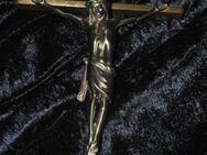 Großes seltenes Kruzifix Reliqium Hausaltar Wandkreuz Jesus  Christus Messing - Zeuthen