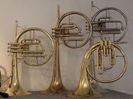 Kühnl & Hoyer F und Eb / Es - Mellophon mit Mundstück - Hagenburg