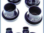 4x PHILOSOPH Keramik Becher + Unterteller für Tee - Kaffee usw. - Nürnberg