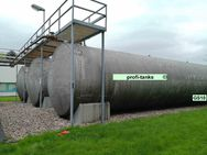 GS10 gebrauchter 100.000 L Thyssen Stahltank doppelwandig Heizöltank DIN6616D Lagerbehälter Löschwassertank Wasserzisterne