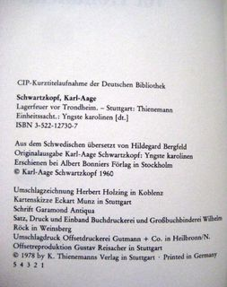 """Spannender Roman """"Lagerfeuer von Trondheim"""" von Karl-Aage Schwartzkopf in sehr gutem Zustand, K. Thienemanns Verlag, stammt aus 1978, 128 Seiten, ISBN: 3522127307, zum Schutz für weiteren Gebrauch schon eingebunden, 4,- € - Unterleinleiter"""