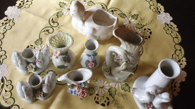 8 teiliges konvult vasen und kerzenständer - Kassel