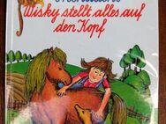 """Schöne Pferdegeschichte """"Kleines Pony Frechdachs"""" von Lise Gast in sehr gutem Zustand, empfohlen für Kinder ab 6 Jahren, Loewes Verlag, 123 Seiten, stammt aus 1991, ASIN: B00I7HW0LU, zum Schutz für weiteren Gebrauch schon eingebunden, 4,- € - Unterleinleiter"""