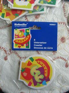 Untersetzer für Kinder Geburtstag Party v.Riethmüller 8 Stck. je Pack NEU - Celle
