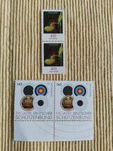 4 Briefmarken 150 JAHRE DEUTSCHER SCHÜTZENBUND -- FRAUENSCHUH NEU