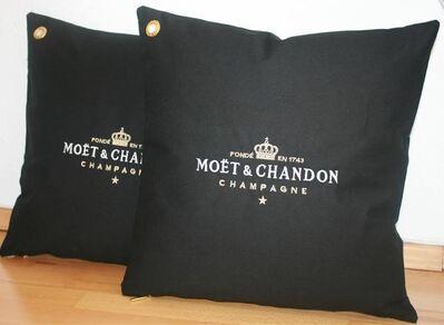 1x schw. Moet Moët Chandon Ice Imperial Kissenbezug Kissen Champagner Bar Bistro Cushion Pillow Lounge - Nienburg (Weser)
