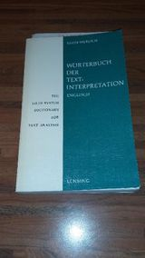 Wörterbuch der Textinterpretation - Englisch - The Field System Dictionary for Text Analysis. Egon Werlich (Autor). Lensing Verlag, 1969
