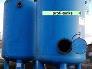 GS12 gebrauchter 26.000 L Stahltank Kiesfilter Drucktank Wasserzisterne Wassertank Normstahl Lagertank zur Filtration Epoxidharzauskleidung Düsenboden