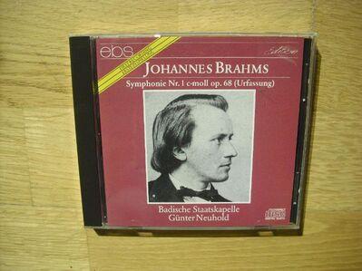 Johannes Brahms: Symphonie Nr. 1 c-moll op. 68 (Urfassung). Audio-CD. Badische Staatskapelle - Günter Neuhold. 1991 - Rosenheim