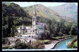 alte farbige Postkarte von Lourdes