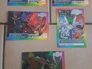 """5 Digimon Karten. Eine """"Holo"""" dabei."""