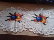 2 kleine Deckchen mit Glockenmotiv  23 cm - Euskirchen