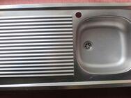 Edelstahlspüle mit Becken rechts und Abstellfläche. 100 x 50 cm - Bad Belzig