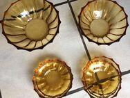 Kristallglas Schuessel Set 8-teilig bernsteinfarben - Herne Holsterhauen