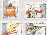 Olympia-Briefmarken 1992 Albertville von Postes Lao (3) [369] - Hamburg