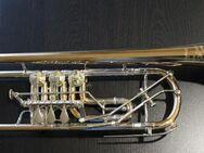 Profiklasse Konzert - Trompete A. Wolfram Markneukirchen, Goldmessing mit 2 Überblasklappen - Hagenburg