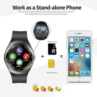 2018 New Smart Watch Round Support Nano SIM TF Card With Bluetooth 3.0  Men Women Business Smartwatch For IOS Android - Reinheim