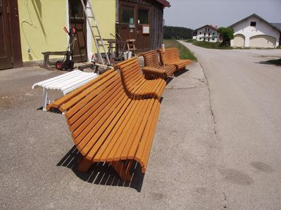 Gartenbänke Fichte/Kiefer fertig lasiert HANDARBEIT - Tyrlaching