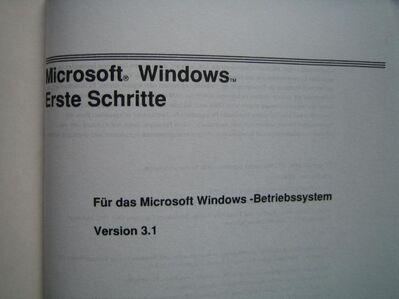 Benutzerhandbuch Microsoft WINDOWS Version 3.1 und Erste Schritte - Höchstadt (Aisch) Zentrum