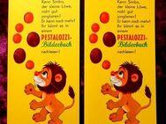 2 alte Lesezeichen des beliebten Pestalozzi Kindebuches - Niederfischbach