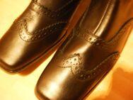 Schönes Paar schwarze Damen Stiefeletten, echtes Leder - Recklinghausen