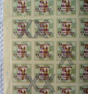 Konvolut verschiedener Bezugsmarken 1948 - 1950 - Niederfischbach