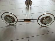 Lampe, Deckenlampe, goldfarben - Unikat - Berlin