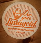 VEB Getränkekombinat Erfurt Braugold Bierdeckel  BD Thüringen