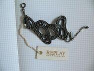 REPLAY, Armband, schwarz, Schlangenform, Metall Kette, 24cm, UVP: 49€ - Düsseldorf