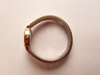 Goldene USiGo Damenuhr dehnbaren Armband - Eckernförde
