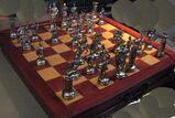 Schach Schachspiel Zinn Figuren Römer gegen Römer si go u.Kassette