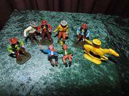 8 alte Cowboy Figuren + Pferd / Konvolut 8tlg. / Spielzeug ca. 1970 / Sammler - Zeuthen