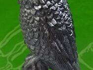 Vogel Eule auf Holzstumpf aus Zinn für Setzkasten - Spraitbach