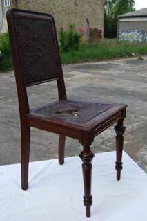 Gründerzeit Stuhl aus Nussbaum / Holzstuhl zum Aufarbeiten - um 1885 - Zeuthen
